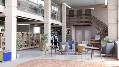 Photo Gallery Image - Designers Image - STC Vision - Seating Area at Entrance to Library