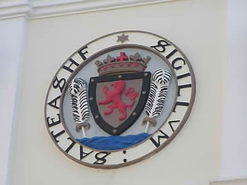 Crest on Saltash Town Hall
